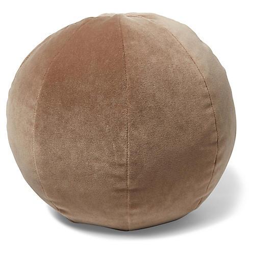 Emma 11x11 Ball Pillow, Toffee Velvet
