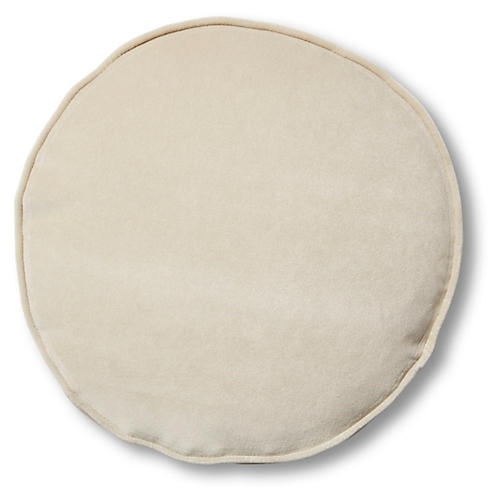 Claire 16x16 Disc Pillow, Bisque Velvet
