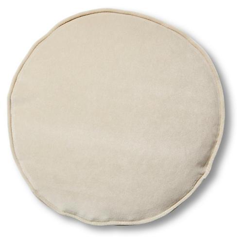 Claire 16x16 Disc Pillow, Bisque Velvet