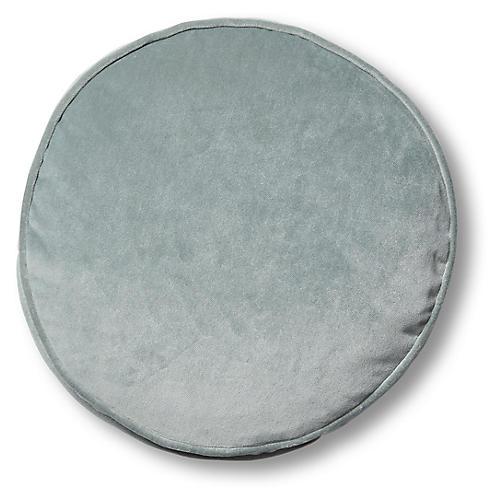 Claire 16x16 Disc Pillow, Mineral Velvet