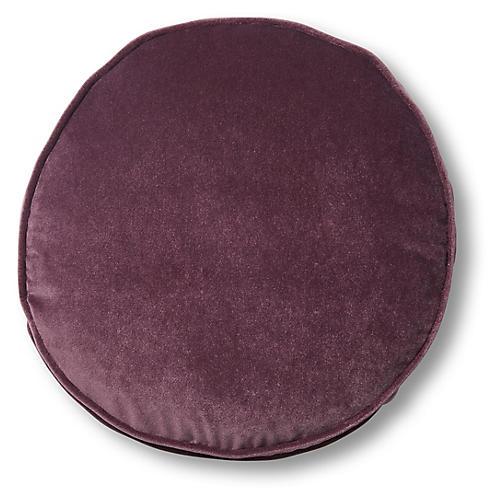 Claire 16x16 Disc Pillow, Fig Velvet