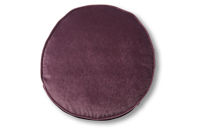 Claire 16x16 Disc Pillow, Fig Velvet