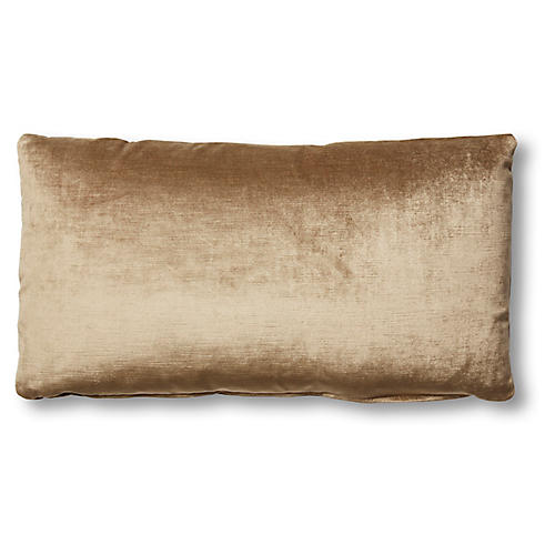 Ada Long Lumbar Pillow, Putty Velvet