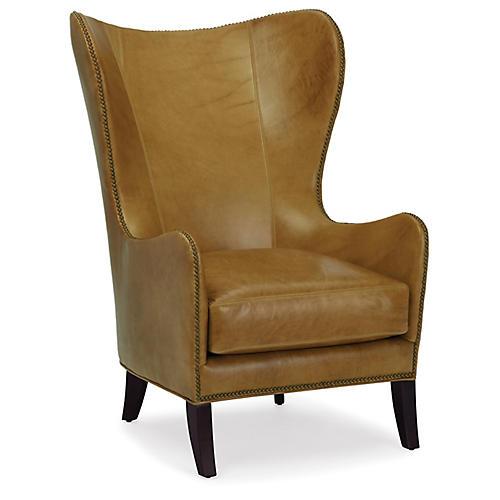 Prescott Wingback Chair, Scotch Leather
