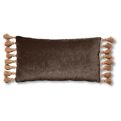 Lou 12x23 Lumbar Pillow, Café Velvet