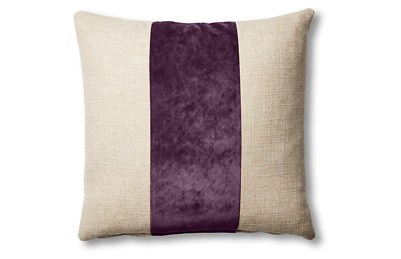 Blakely 19x19 Pillow, Natural/Fig
