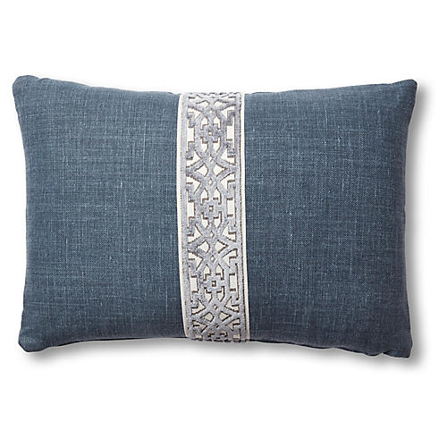 Kyra 15x23 Lumbar Pillow, Navy