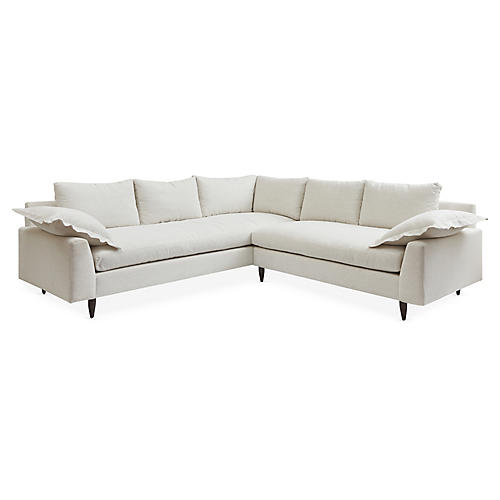 Lewis Sectional, Ivory Crypton