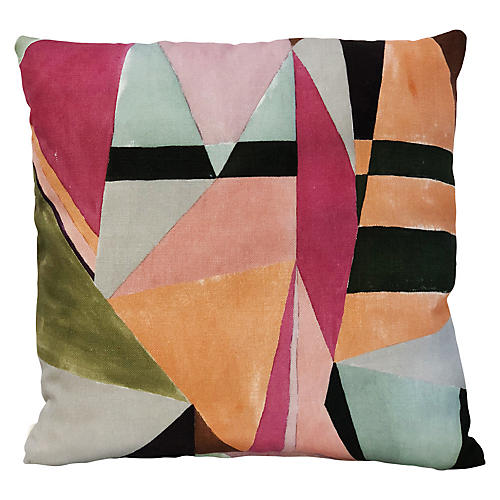 Tuombly 20x20 Pillow, Mulberry/Multi