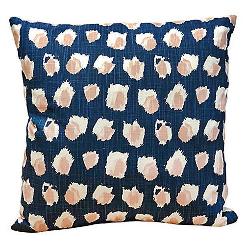 Clara 20x20 Pillow, Indigo/Blush