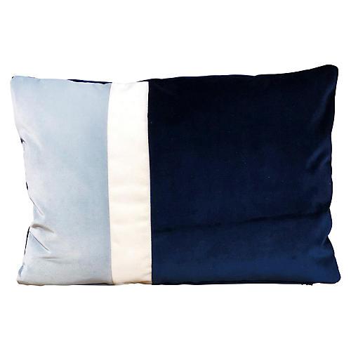 Elsa 14x20 Lumbar Pillow, Indigo Velvet