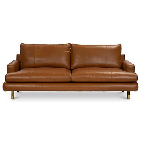 Somerset Sofa, Camel Leather