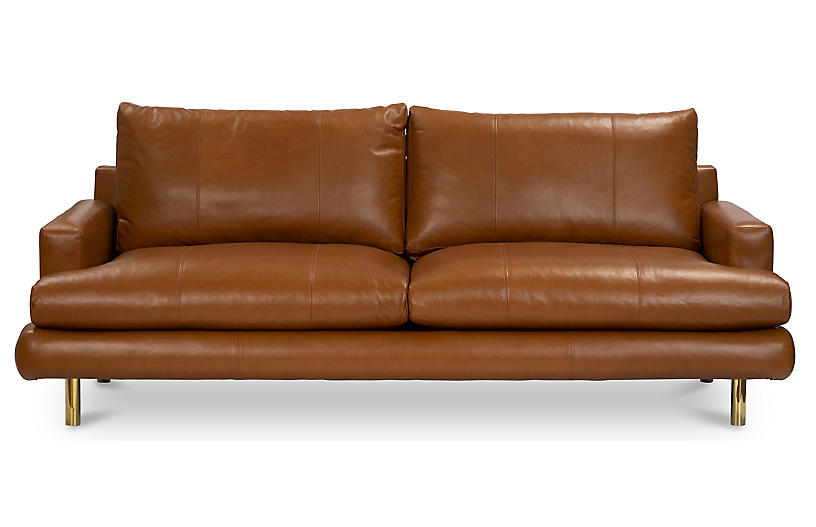 Somerset Sofa, Camel Leather