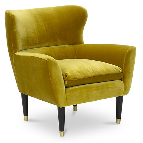 Norah Chair, Citrine Velvet