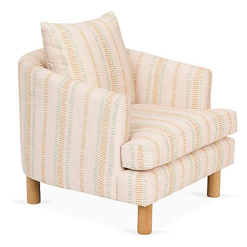 Brooklyn Chair, Olive/Blush