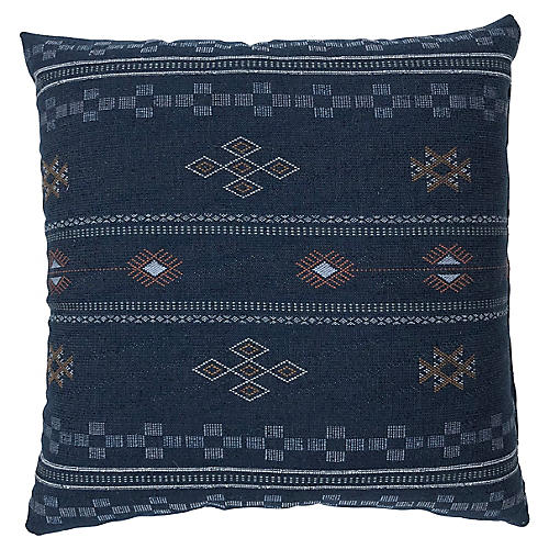 Ava 20x20 Pillow, Blue