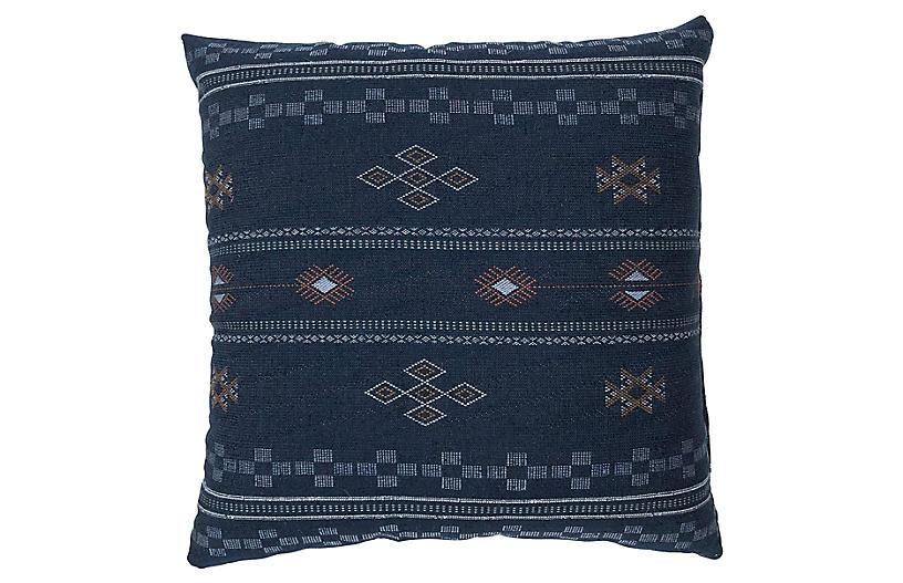 Ava 20x20 Pillow, Blue