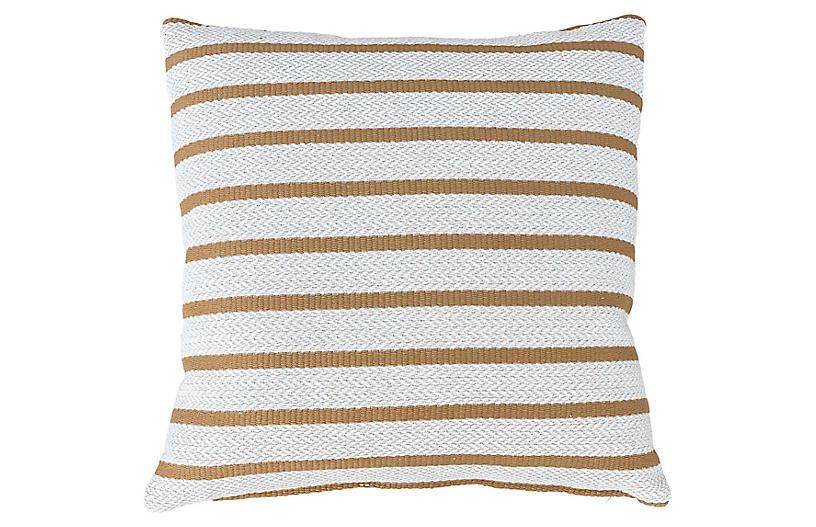 Kolton 22x22 Pillow, Honey/Ivory
