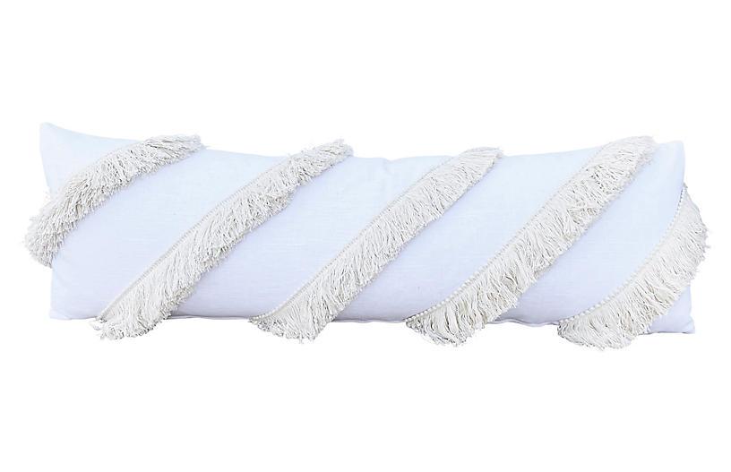 Ibiza 13x40 Lumbar Pillow, Ivory/Cream