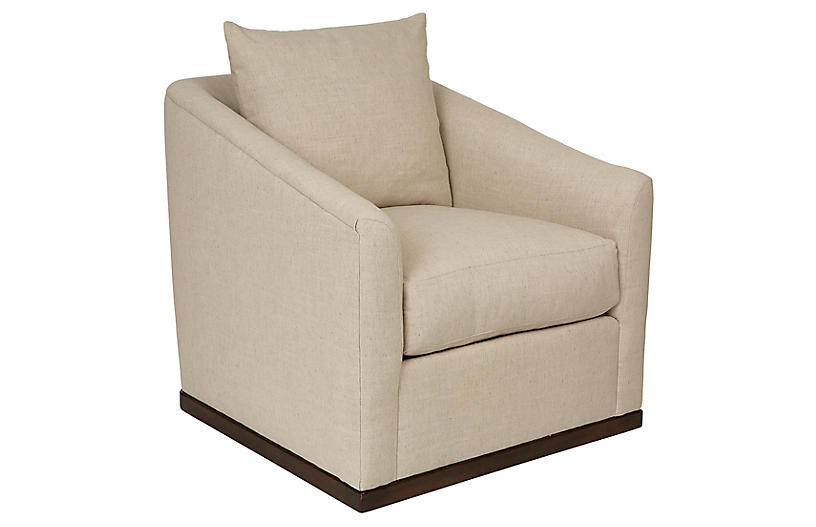 Ryder Swivel Linen Chair