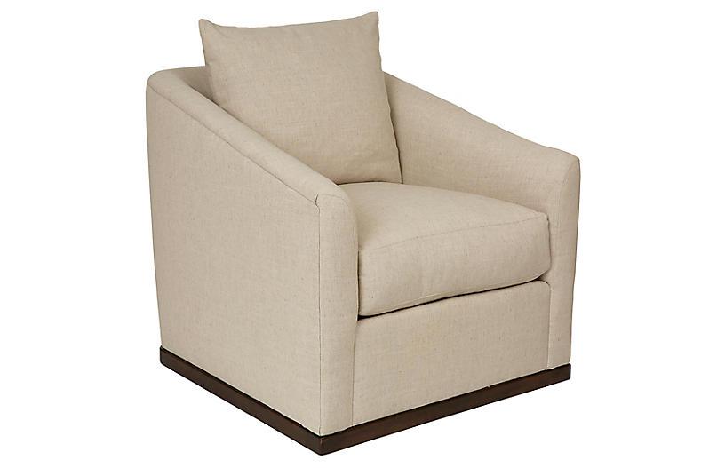 Ryder Swivel Linen Chair