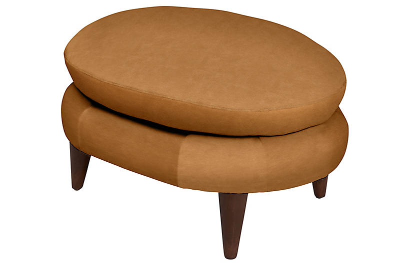 Lowell Leather Footstool