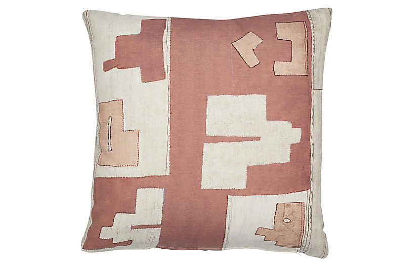 Arlo 21x21 Outdoor Pillow, Terracotta/Blush