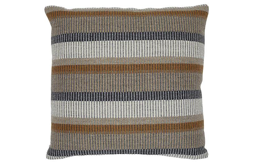 Wren 20x20 Pillow, Brown/Gray