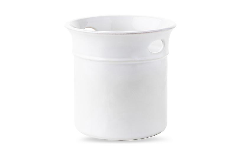 Puro Whitewash Utensil Crock