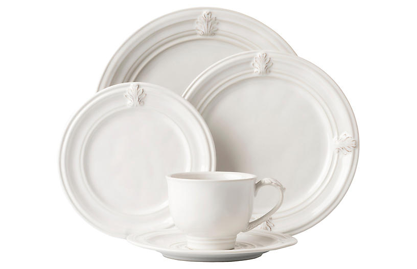 Asst. of 5 Acanthus V Place Setting, White