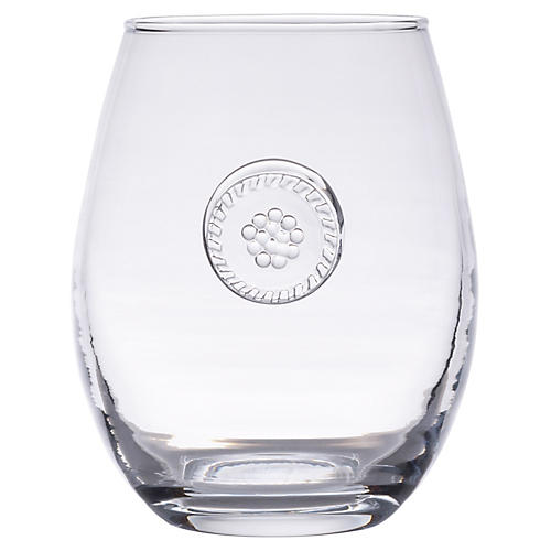 Berry & Thread Stemless White-Wine Glass, Clear