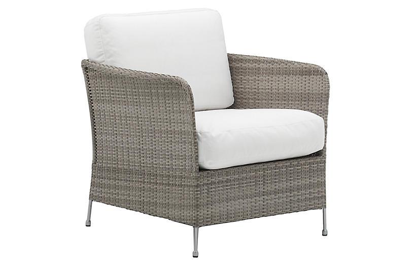 Orion Outdoor Chair, Teak Gray/White