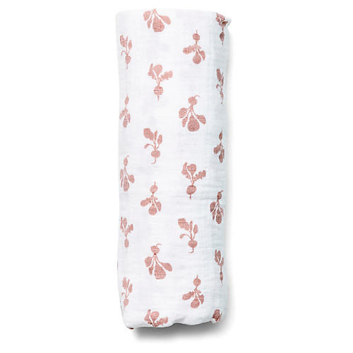 Mini Radish Swaddle, Mauve