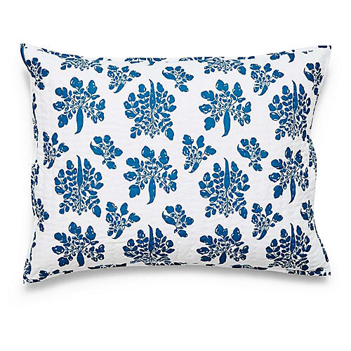 Parsnip Quilted Sham, Captain's Blue