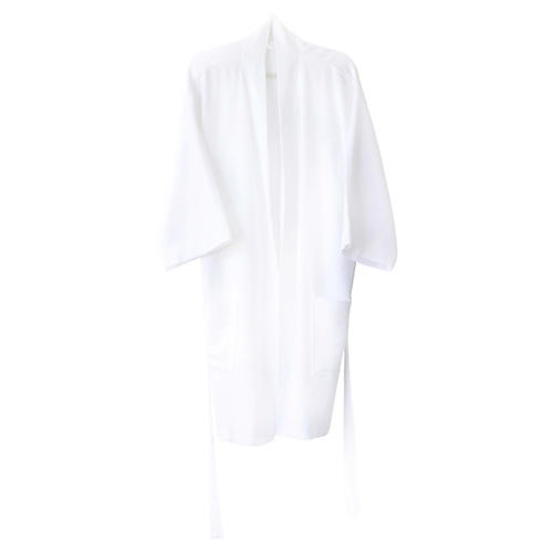 Ottoman Short Bathrobe, White