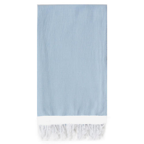 Basic Single-Stripe Towel, Light Blue