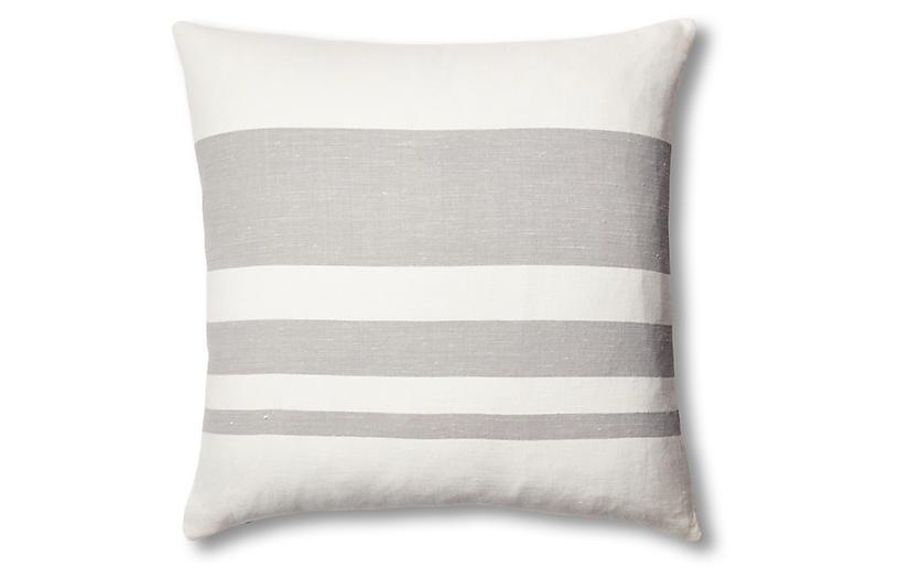 Sunset Linen Pillow, Gray
