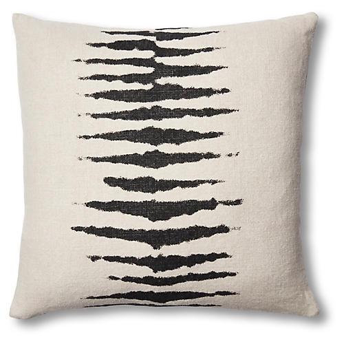 Wild One 22x22 Linen Pillow, Charcoal