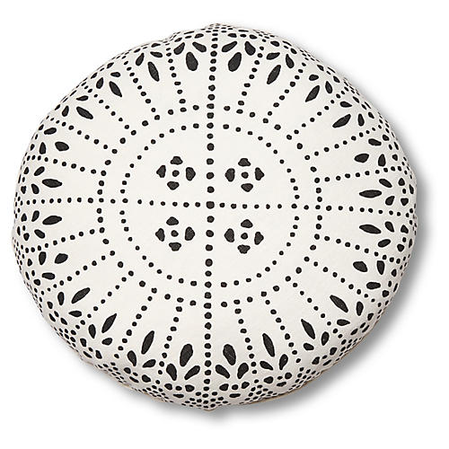 Issa 20x20 Disc Pillow, Charcoal