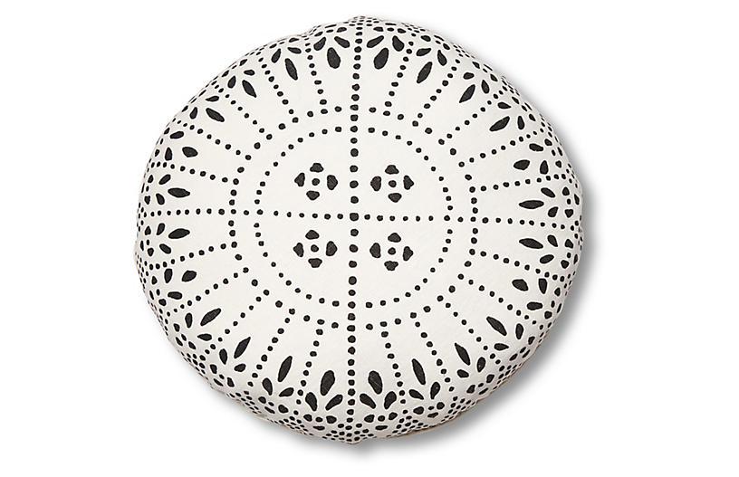 Issa 20x20 Disc Pillow, Charcoal