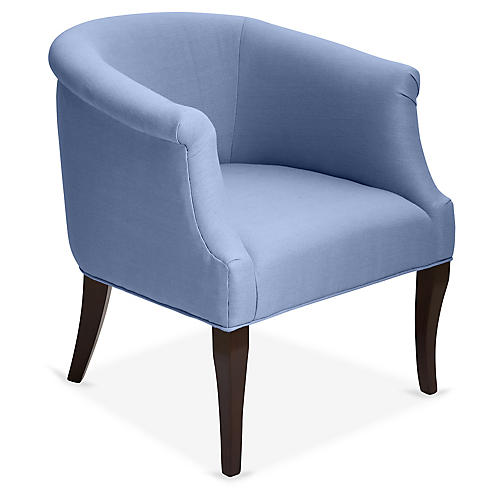 Selby Club Chair, Chambray Linen