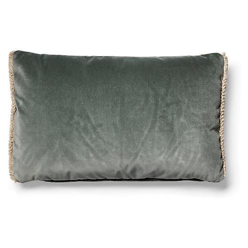 Bali 12x20 Lumbar Pillow, Gris Velvet