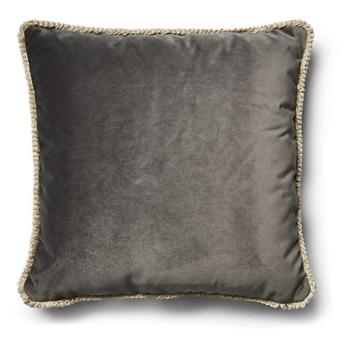 Bali Pillow, Gray Velvet
