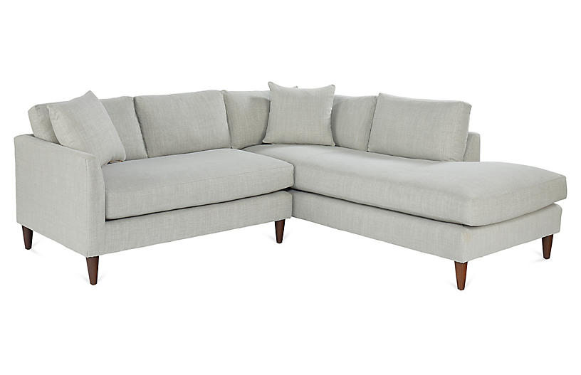 Ashbury Sectional, Stone Crypton