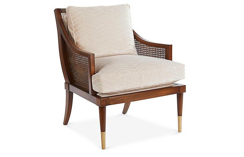 Kirkwood Accent Chair, Blush