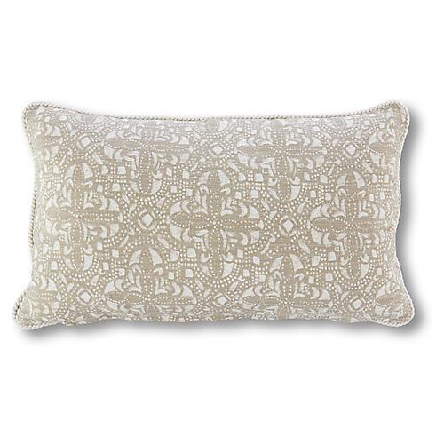 Sandoval 12x20 Lumbar Pillow, Latte/Ivory