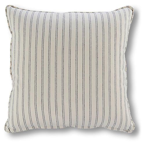 Comino 18x18 Stripe Pillow, Marine Blue