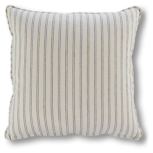 Comino 18x18 Stripe Pillow, Marine Blue