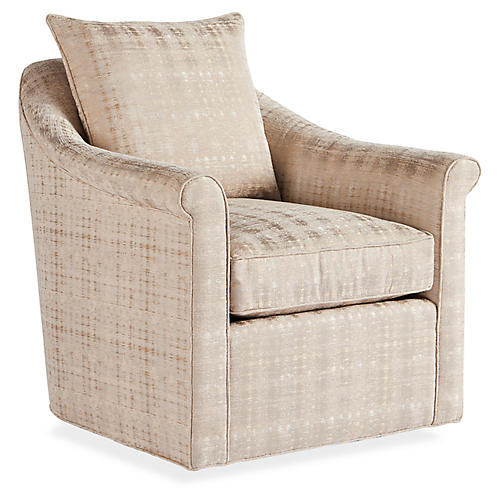 Jenna Swivel Chair, Natural
