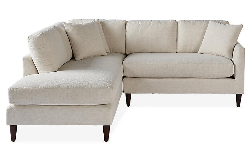 Ashbury Left-Facing Sectional, Pearl